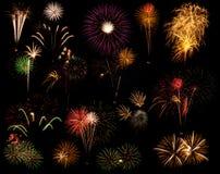 Composto del fuoco d'artificio Immagini Stock Libere da Diritti