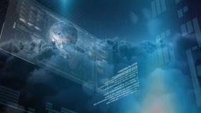 Composto di Digital di controllo le azione e della crescita finanziaria illustrazione vettoriale