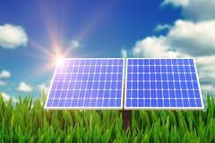 Composto di Digital del pannello solare 3d Fotografie Stock