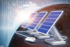 Composto di Digital del pannello solare 3d Illustrazione di Stock