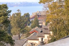 Composto di Pechino Beihai Hillside Fotografia Stock Libera da Diritti