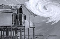 Composto di stagione di uragano fotografie stock libere da diritti