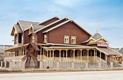 Composto do russo, vila nacional Orenburg fotografia de stock royalty free