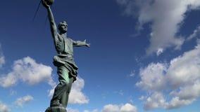 ` Composto escultural o primeiro ` satélite em Moscou, Rússia filme
