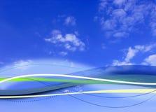 Composto nuvoloso della priorità bassa del cielo blu Fotografia Stock