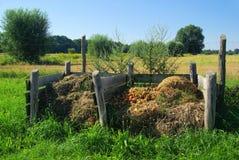 Compoststapel Royaltyfri Fotografi