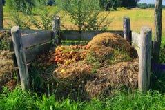 Compoststapel Fotografering för Bildbyråer