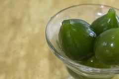 Compota de higos verdes, un postre delicioso imágenes de archivo libres de regalías