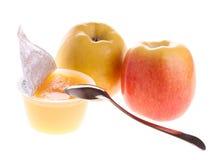Compota de manzanas fotografía de archivo libre de regalías