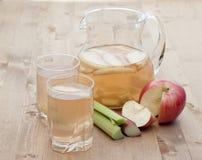 Compote του ρεβεντιού και του μήλου Στοκ Εικόνες