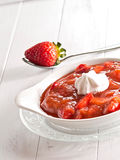 Compote φραουλών ρεβεντιού Στοκ εικόνα με δικαίωμα ελεύθερης χρήσης