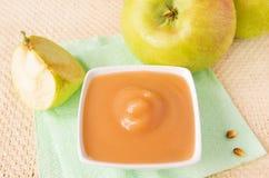 Compote de pommes Photos stock