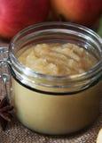 Compote de pommes faite maison fraîche avec des pommes Images libres de droits