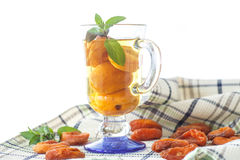 Compote with dried apricots Royalty Free Stock Photo