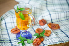 Compote with dried apricots Stock Image