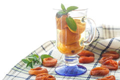 Compote with dried apricots Royalty Free Stock Photos