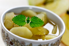 Compote of dried fruits and spices Stock Image