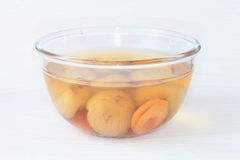 Stewed fruit in a bowl. Royalty Free Stock Photos
