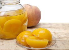 Compote of peaches Stock Photos