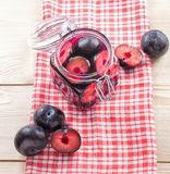 Compote of plums Stock Images