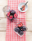Compote of plums Royalty Free Stock Photos