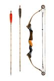 Compound bow and arrows Stock Image