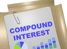 Compound Interest concept. 3D illustration of `COMPOUND INTEREST` title on business document vector illustration