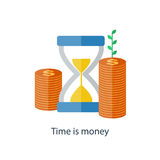 Compound interest concept. Time is money. Future income growth. Pension fund plan. Vector. Compound interest concept. Time is money. Financial investment in Stock Image
