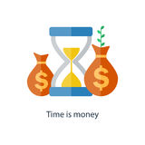 Compound interest concept. Time is money. Future income growth. Pension fund plan. Vector. Compound interest concept. Time is money. Financial investment in Stock Photo