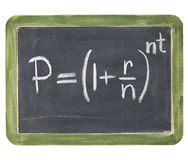 Compound interest equation Royalty Free Stock Photography