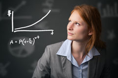 Compound Interest Rate - Banking and Finances Stock Photography