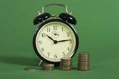 Compound interest with time Stock Images