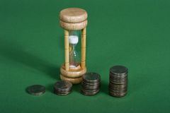 Compound interest with time royalty free stock images