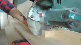 Compound miter saw stock video