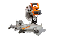 Compound Miter Saw. Isolated on a white background stock photos