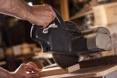 Compound mitre saw Royalty Free Stock Image