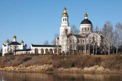 Compound Novo Tikhvinsky nunnery Royalty Free Stock Images