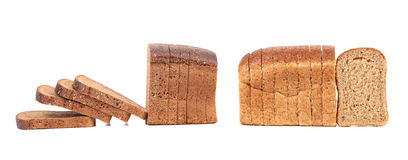 Compozition of sliced brown bread Stock Image