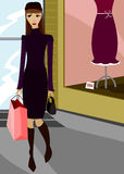 Compra chique ilustração stock