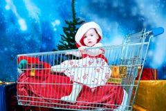 Compra com uma criança foto de stock royalty free