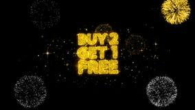 Compra 2 conseguir partículas de oro libres de 1 centelleo del texto con la exhibición de oro de los fuegos artificiales