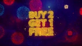 Compra 2 conseguir partículas de saludo libres de 1 chispa del texto en los fuegos artificiales coloreados