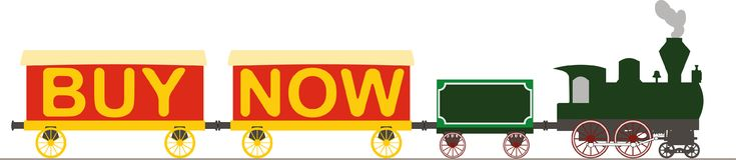 Compra da locomotiva de vapor agora Imagem de Stock