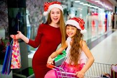 Compra da matriz e da filha Foto de Stock Royalty Free
