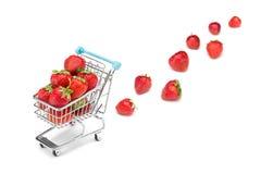 Compra da morango Fotografia de Stock