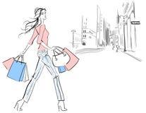 Compra da mulher Imagem de Stock