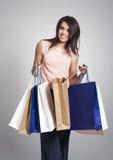 A compra da mulher fotos de stock