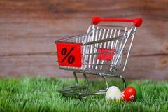 Compra da Páscoa Fotografia de Stock