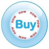Compra da tecla isolada agora no fundo branco Imagem de Stock Royalty Free