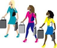 Compra das mulheres ilustração royalty free